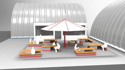 """El Centro Cultural """"El Hangar"""" es un proyecto multidisciplinario encabezado por la Dirección de Difusión Cultural. Foto: Gybsan Villagómez."""